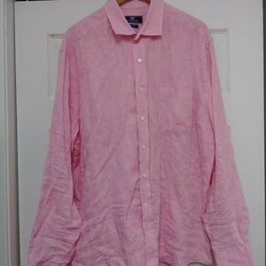 Vineyard Vines Pink LINEN SHIRT Long Sleeve XL